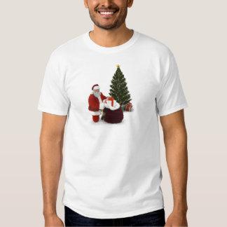 Presentes del ajuste de Santa por el árbol Polera