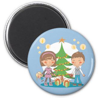 Presentes del árbol de navidad iman para frigorífico