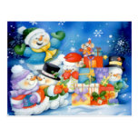 Presentes para la familia escarchada tarjetas postales