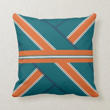 Presenting Aquatic Orange Throw Pillow