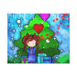 Presenting my Heart - Ella Art by Asmaa' Gallery Wrapped Canvas
