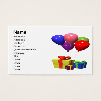 Presents And Balloons Business Card
