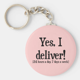 Presents for Midwives & OBs Basic Round Button Keychain