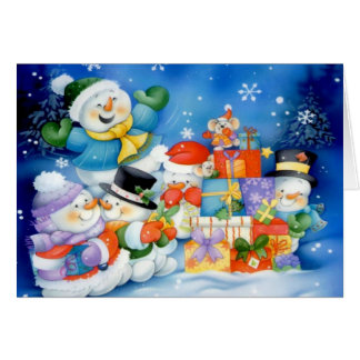Presents For the Frosty Family Card