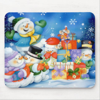 Presents For the Frosty Family Mousepad