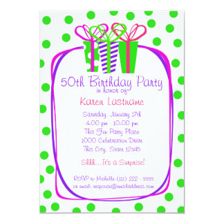 Presents Gifts Party 5x7 Paper Invitation Card