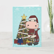 Presents Under the Christmas Tree - Cow Holiday Card