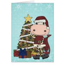 Presents Under the Christmas Tree - Cow Thank You Card