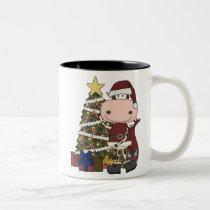 Presents Under the Christmas Tree - Cow Two-Tone Coffee Mug