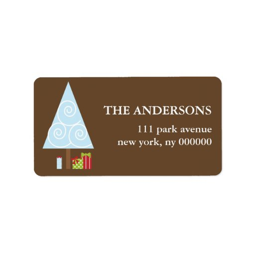 Presents under the Tree Christmas Labels