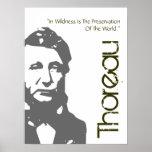 Preservación de Thoreau del poster del mundo