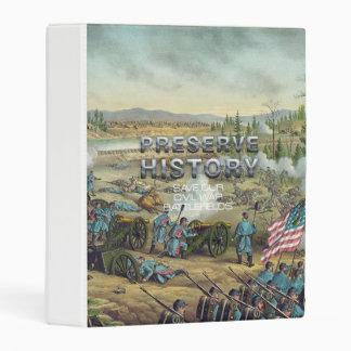 Preservación del campo de batalla de la guerra mini carpeta