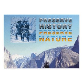 Preservación del parque nacional de ABH Tarjetas De Visita Grandes