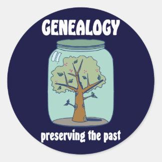 Preservar el pasado etiqueta redonda