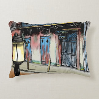 PRESERVATION HALL NEW ORLEANS by Slipperywindow Decorative Pillow
