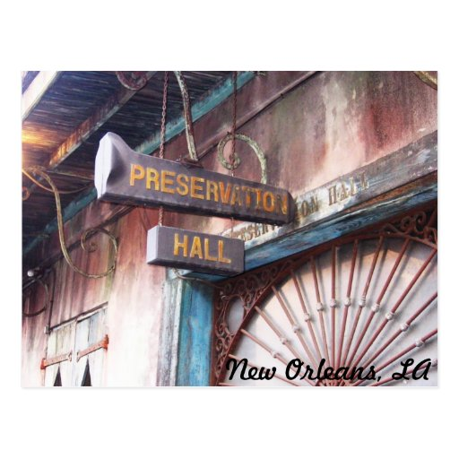 Preservation Hall Postcard