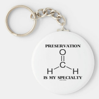Preservation Is My Specialty Formaldehyde Molecule Keychain
