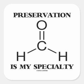 Preservation Is My Specialty Formaldehyde Molecule Square Sticker