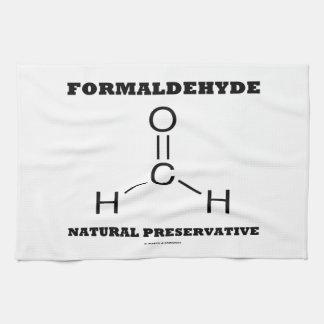 Preservativo natural del formaldehído (molécula) toalla