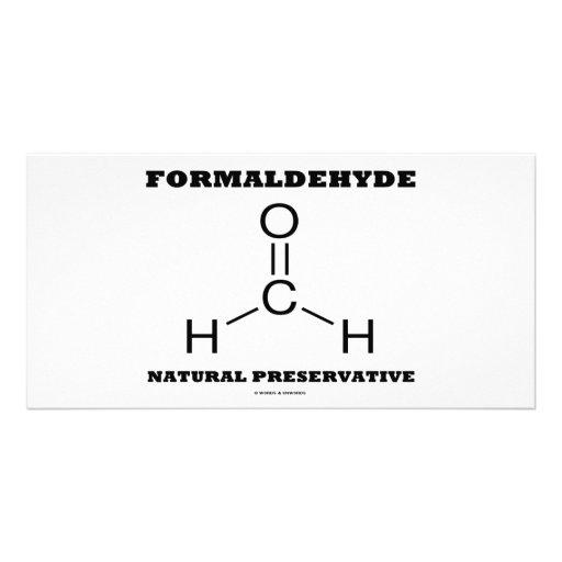 Preservativo natural del formaldehído (molécula) tarjetas fotograficas personalizadas