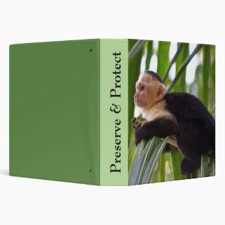 Preserve and Protect The Wildlife Monkeys Binder