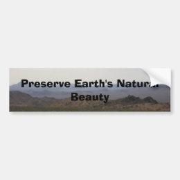 Preserve Earth bumper sticker