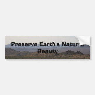 Preserve Earth bumper sticker