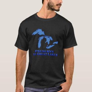 Preserve Great Lakes - Black T-Shirt