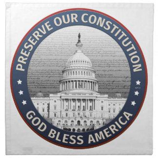 Preserve nuestra constitución servilletas imprimidas