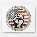 Preserve nuestra constitución tapetes de ratones