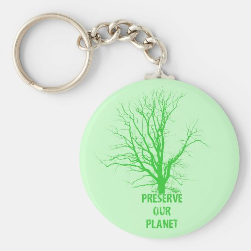preserve nuestro llavero del planeta