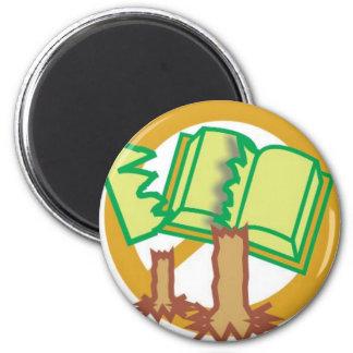 Preserve o livro e salve as arvores magnet