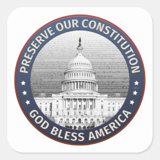 Preserve Our Constitution Square Sticker