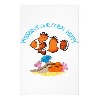 PRESERVE OUR CORAL REEFS STATIONERY