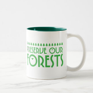 Preserve Our Forests Two-Tone Coffee Mug