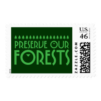 Preserve Our Forests Postage Stamp