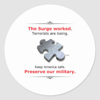 Preserve Our Military Classic Round Sticker