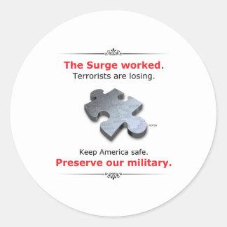 Preserve Our Military Classic Round Sticker