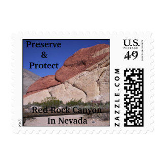 Preserve & Protect, Red Rock . Postage Stamp