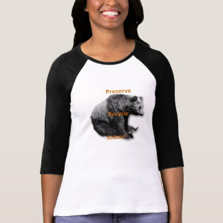 Preserve, recycle, sustain women's two-tone tee