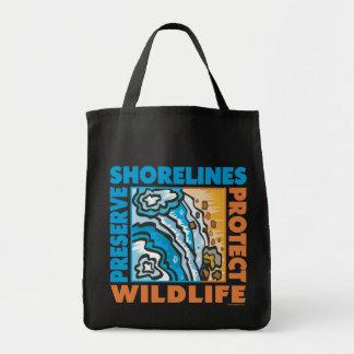 Preserve Shorelines - Protect Wildife Canvas Bag