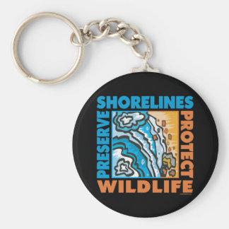 Preserve Shorelines - Protect Wildife Keychain