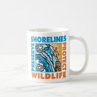 Preserve Shorelines - Protect Wildife Coffee Mugs