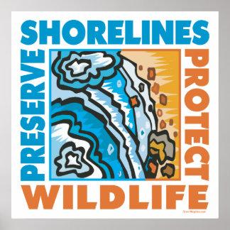 Preserve Shorelines - Protect Wildife Poster