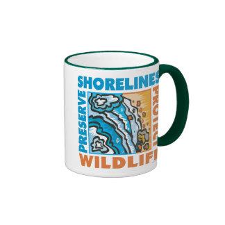 Preserve Shorelines - Protect Wildife Ringer Mug