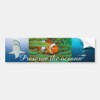 Preserve the Oceans Bumper Sticker