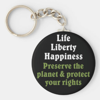 Preserve the planet to protect your rights 2 basic round button keychain
