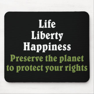 Preserve the planet to protect your rights 2 mouse pad