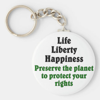Preserve the planet to protect your rights keychain