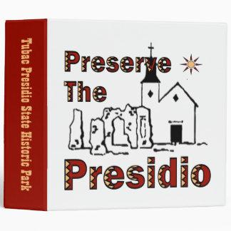 Preserve the Presidio binder